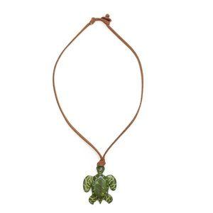 Handcrafted sea turtle Santa Cruz toggle Necklace